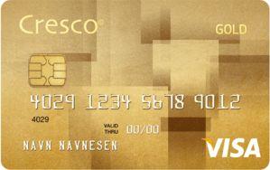 Cresco Gold kredittkort VISA