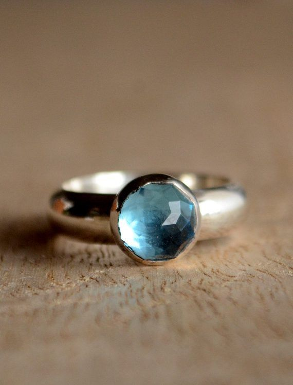 The Loko Kai blue topaz ring. A perfect gift for a December girl... By Kahili Creations of Hawaii.