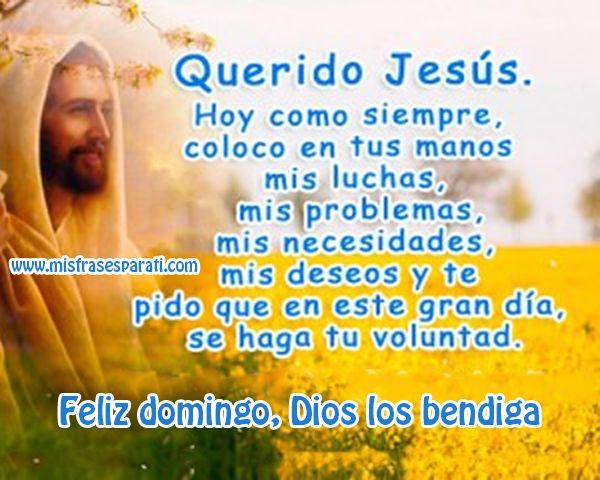 Feliz domingo, Dios los bendiga