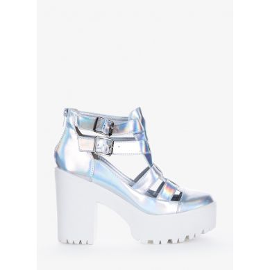 Botki Young Joy Silver Hologram Booties