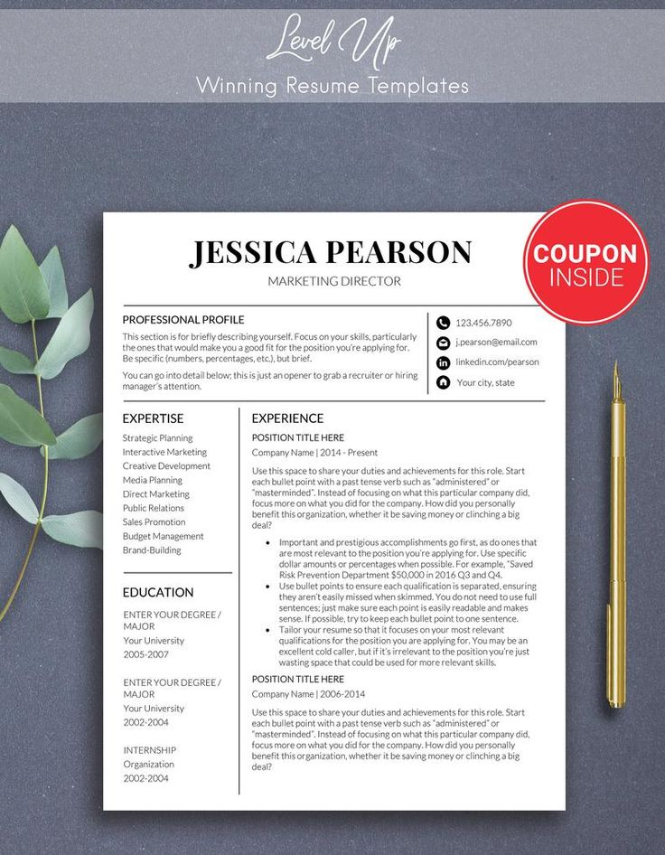 Free Modern Resume Modern resume template