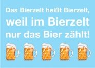 Postkarte: Das Bierzelt heißt Bierzelt