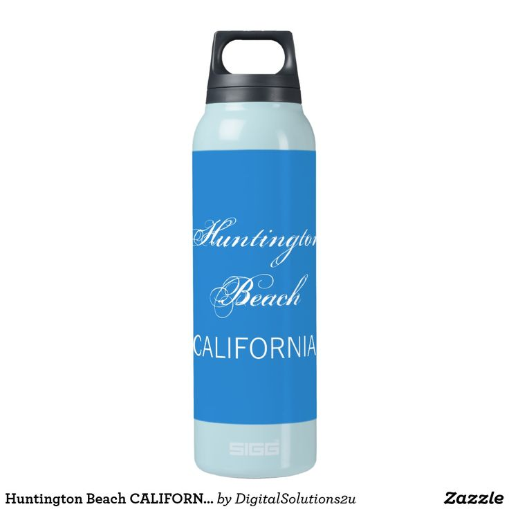 Huntington Beach CALIFORNIA funny customizable Insulated Water Bottle