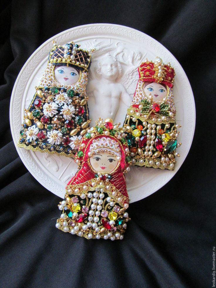 """Елена Брошь-Подвеска """"Русская Красавица - Боярыня III"""""""