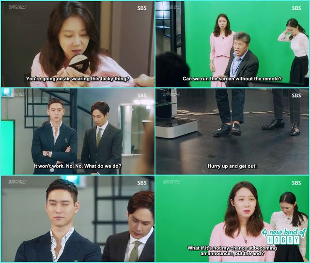 jung won help na ri at the weather forecast by threwing the screen remote…