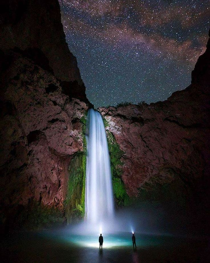 Best 25 grand canyon information ideas on pinterest grand grand canyon waterfall at night mooney falls in havasu canyon under a sea of stars for sciox Choice Image