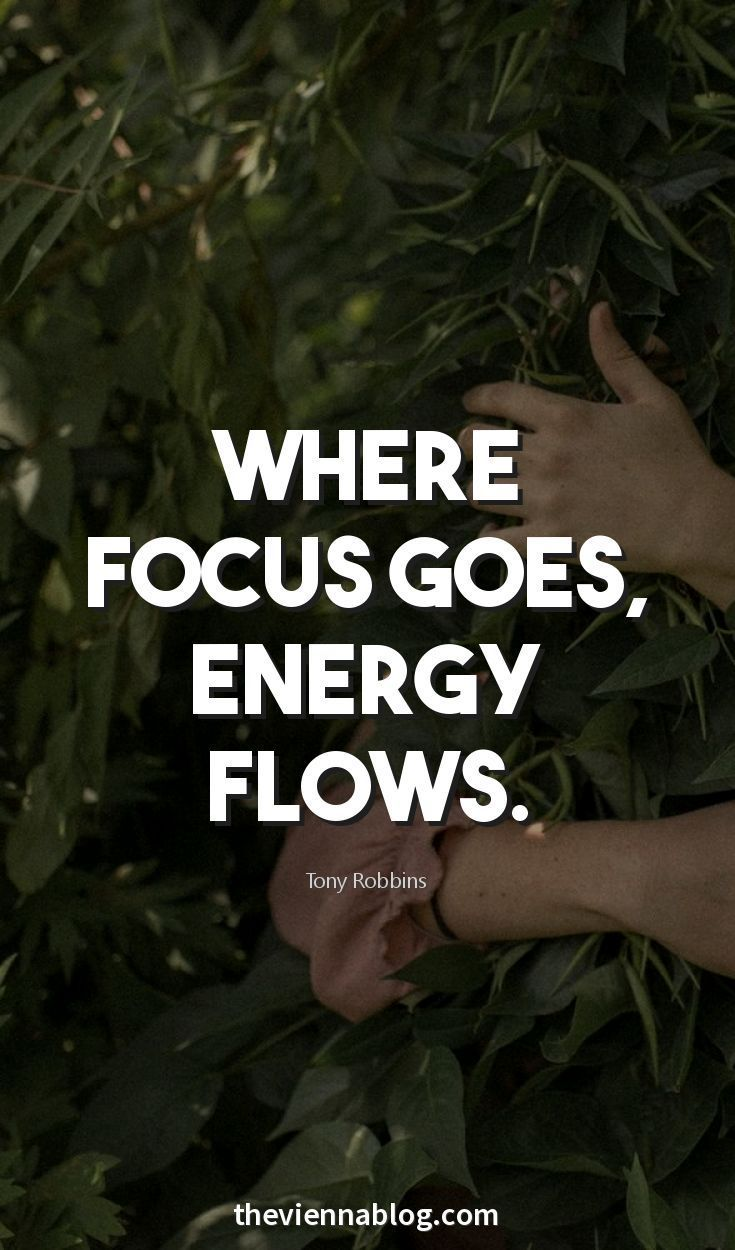 #morningthoughts #quote #Motivation  Where focus goes energy flows