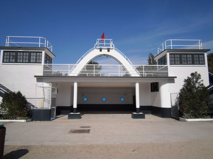 L'Isle Adam - France One of the swimming pools build in the 30's