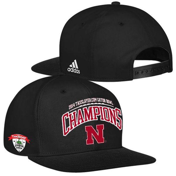 adidas Nebraska Cornhuskers 2014 Gator Bowl Champions Hat - Black - $8.99