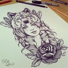 rik lee <3  wolf headdress I would like this with a little less barbi and a fox instead