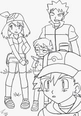 Ash, May, Pika, Max, Brock - [Pokemon] by