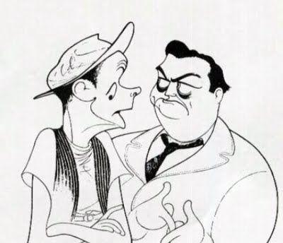 The Honeymooners: Jacky Gleason (Ralph Kramden) and Art Carney (Ed Northon).