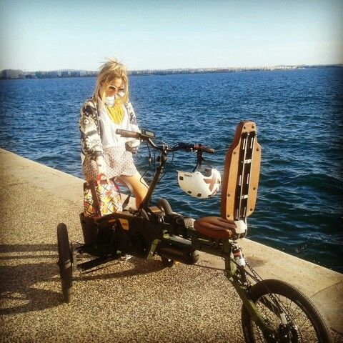 @Paastel Trike is able to carry everything necessary in your daily life! Paastel trike / Thessaloniki