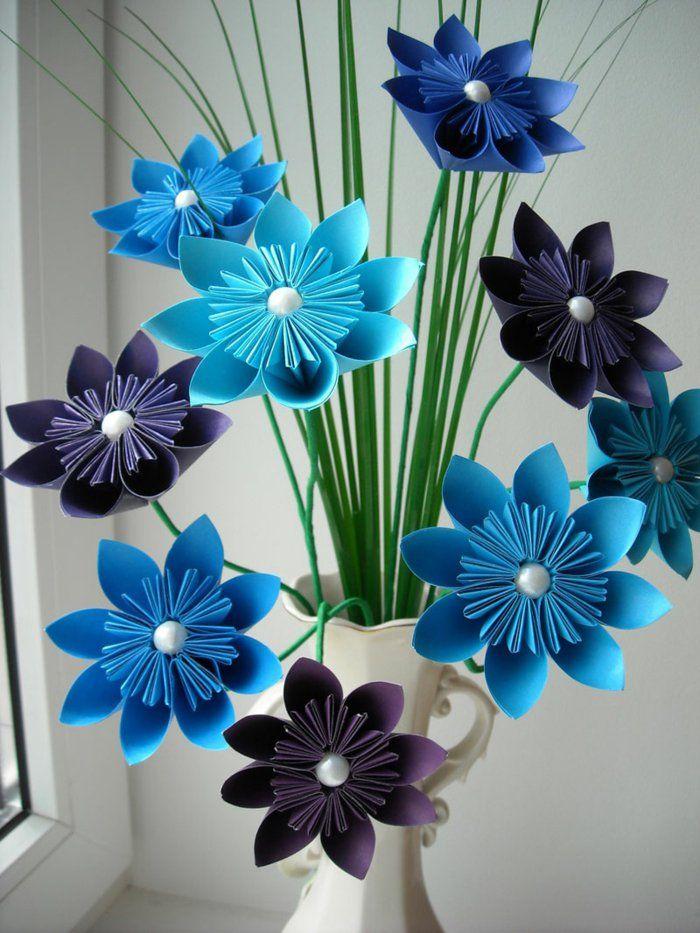 die besten 20 papierblumen basteln ideen auf pinterest papierblumen papierrosen und. Black Bedroom Furniture Sets. Home Design Ideas