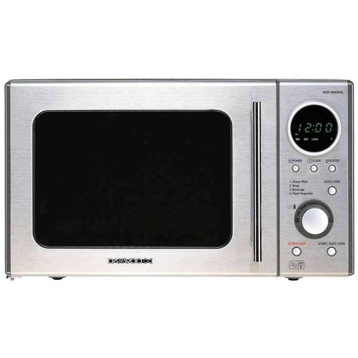 Daewoo 20L 800W Duoplate Touch Control Microwave Stainless Steel KOR3000DSL