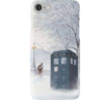 Tardis Snow Romantic Winter iPhone Case/Skin