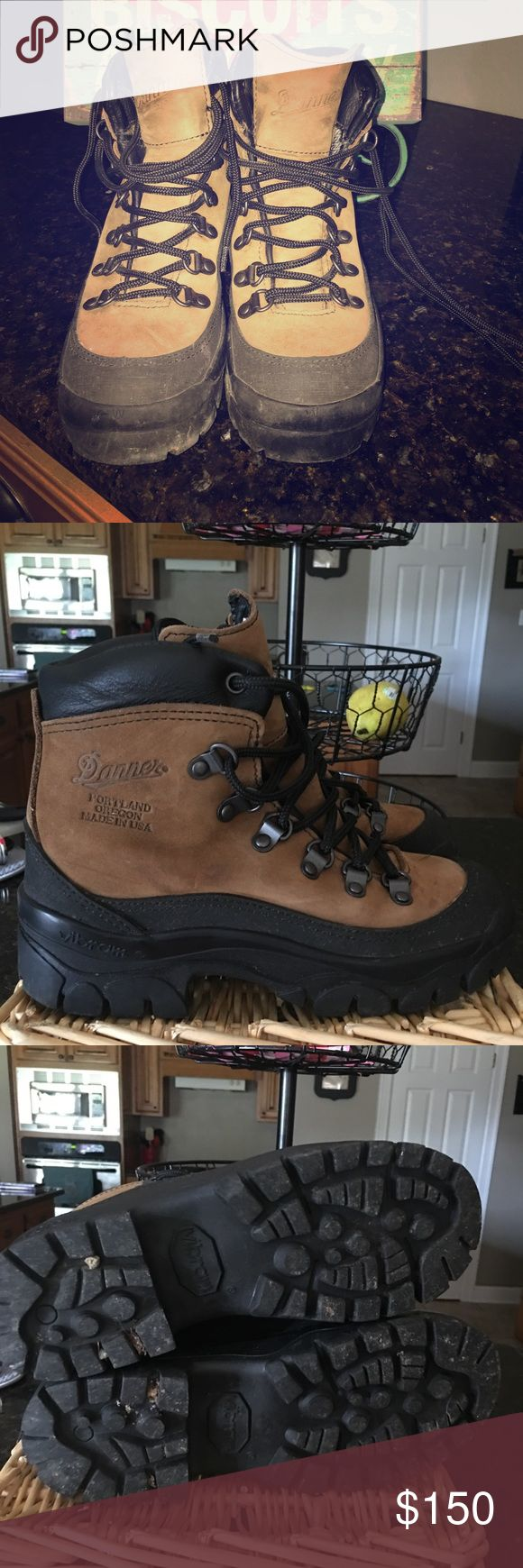 Danner hiking boots Danner Hiking Boots excellent condition worn once. Men size 4 women size 5.5-6 Danner Shoes Ankle Boots & Booties