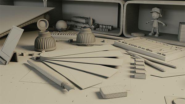 wireframe de cena 3D de render para imagem de background de website