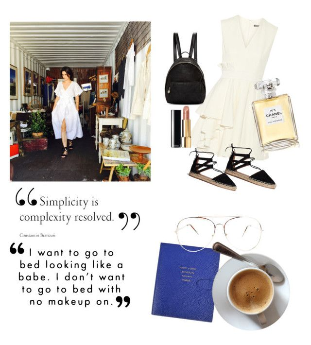 """""""Coffee date"""" by dolc on Polyvore featuring Smythson, Sephora Collection, Alexander McQueen, Aquazzura, STELLA McCARTNEY and Chanel"""