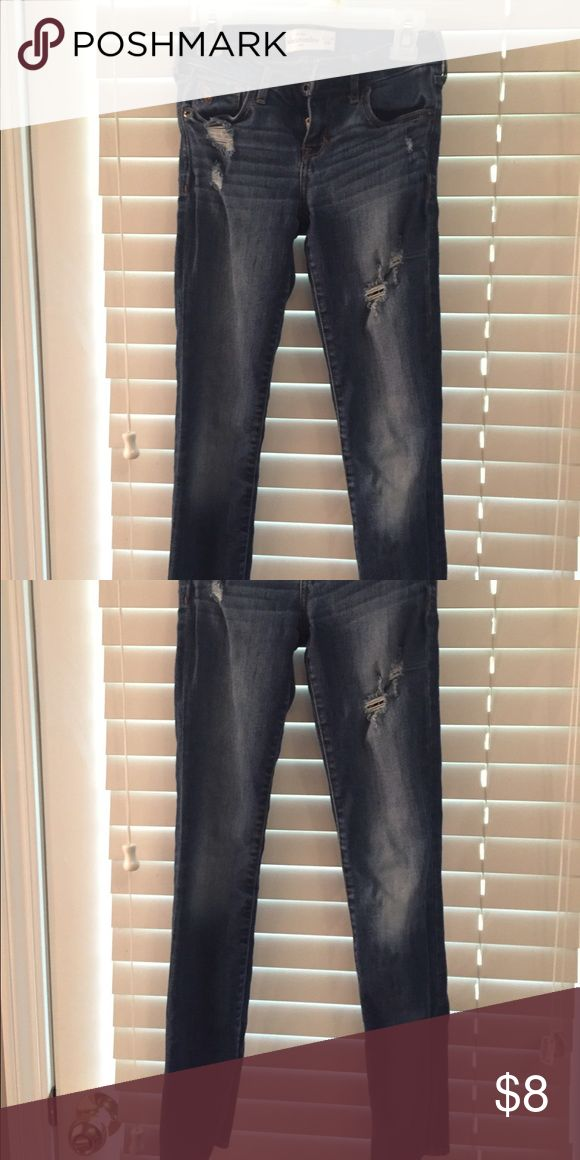 Abercrombie Girls  Skinny Jeans Size 12 Slim Abercrombie Girls Destroyed Skinny Jeans Size 12 Slim abercrombie kids Bottoms Jeans