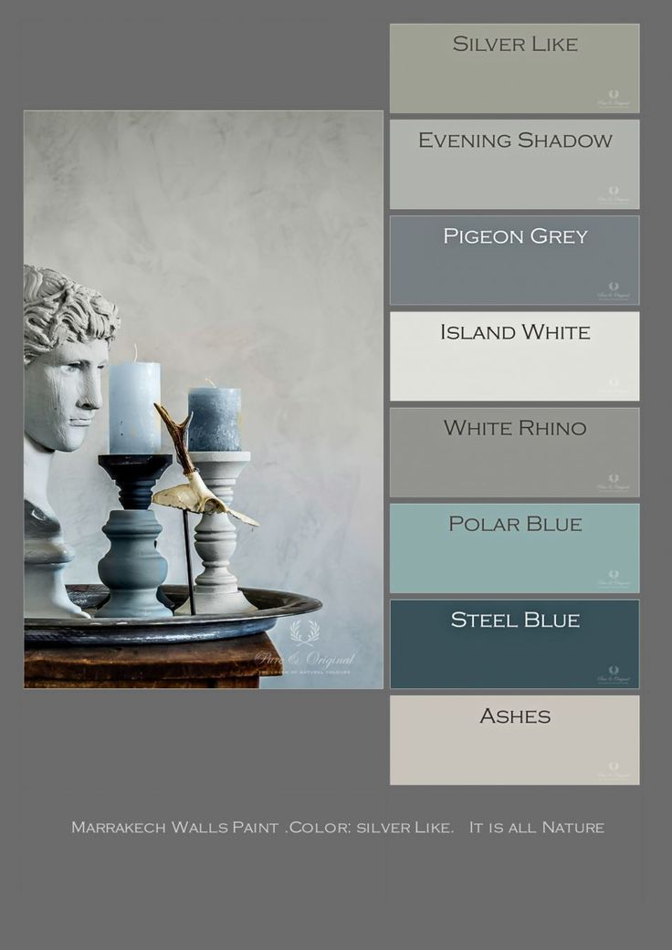 Marrakech Walls Paint, Farbe: Silver Like. Foto D. Ceulemans – Home: Living colo