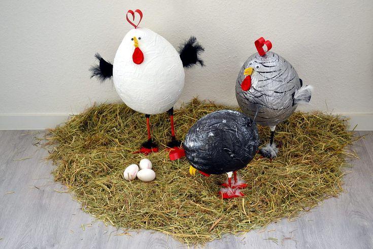 Bildergebnis für ostern hühner basteln