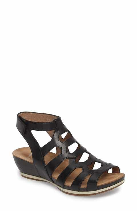 ce1481527f29 Dansko Valentina Caged Wedge Sandal (Women)