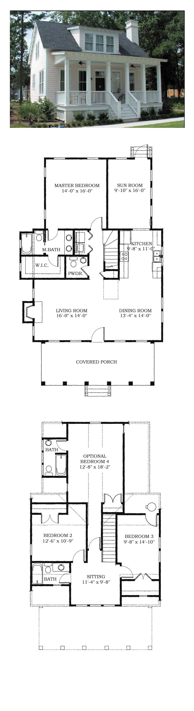 COOL House Plan ID: chp-38703 | Total Living Area: 1783 sq. ft., 4 bedrooms and 3.5 bathrooms. Good use of space for a small house, I would add a 2 car garage to it