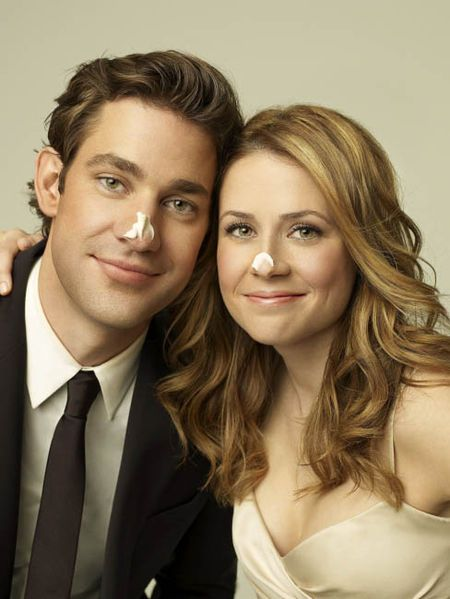 John Krasinski and Jenna Fischer, The Office couple - adorable