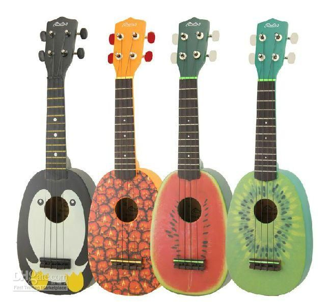 Wholesale Soprano Ukulele Watermelon Style Kiwa Style Pineapple Style on Stock Free BagChina ukulele, Free shipping, $80.5-82.6/Piece | DHgate
