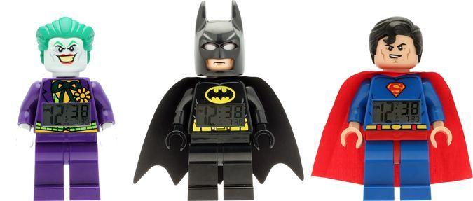 DC Comics Lego Minifigure Alarm Clock Batman, Superman, Joker http://coolpile.com/gadgets-magazine/lego-dc-comics-super-heroes-alarm-clocks/ via coolpile.com by @legowatches  #AlarmClock #Batman #Bedroom #Clocks #DCComics #Joker #Lego #LegoWatches #Superheroes #Superman #coolpile