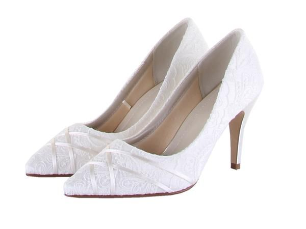 'Ashleigh' - Lace Court Shoe. From the Rainbow Club vintage lace Bliss  Collection