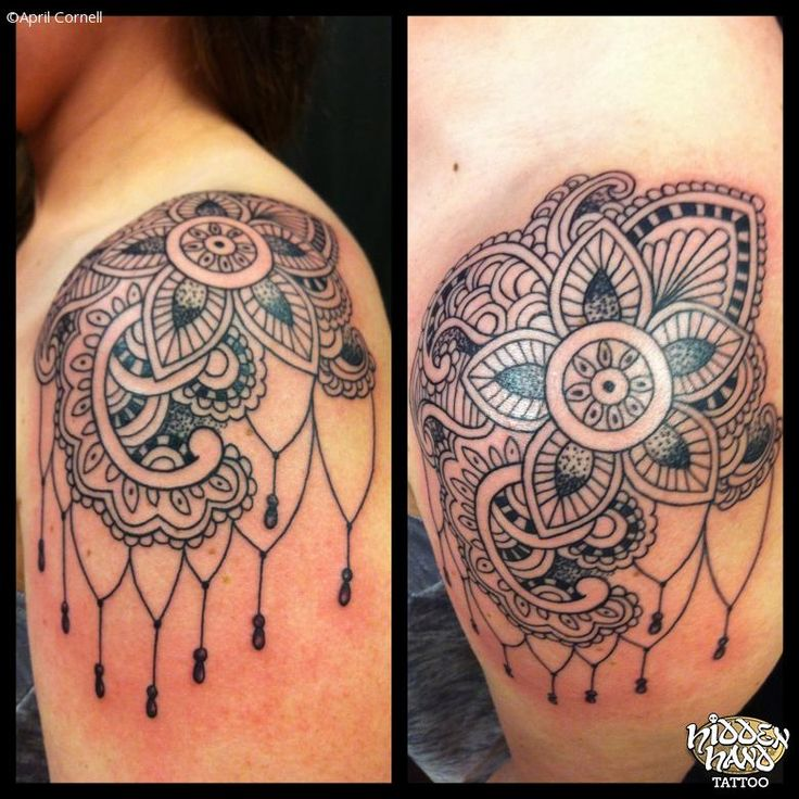 shoulder cap tattoo   Lace Shoulder Cap - Hidden Hand Tattoo Seattle, WA