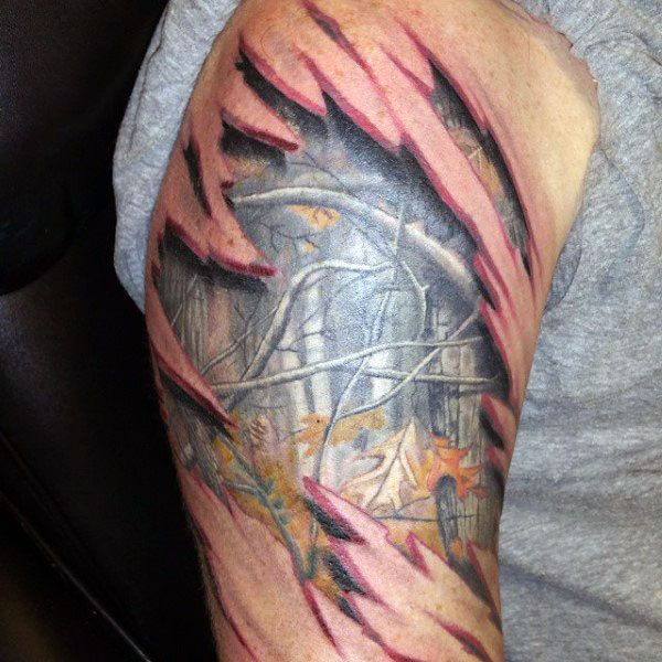 Camouflage Tattoo Pics 40 camo tattoo designs for men - cool ...