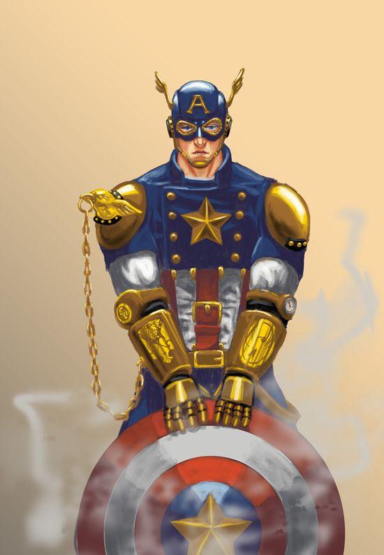 Steampunk Captain America Version 2