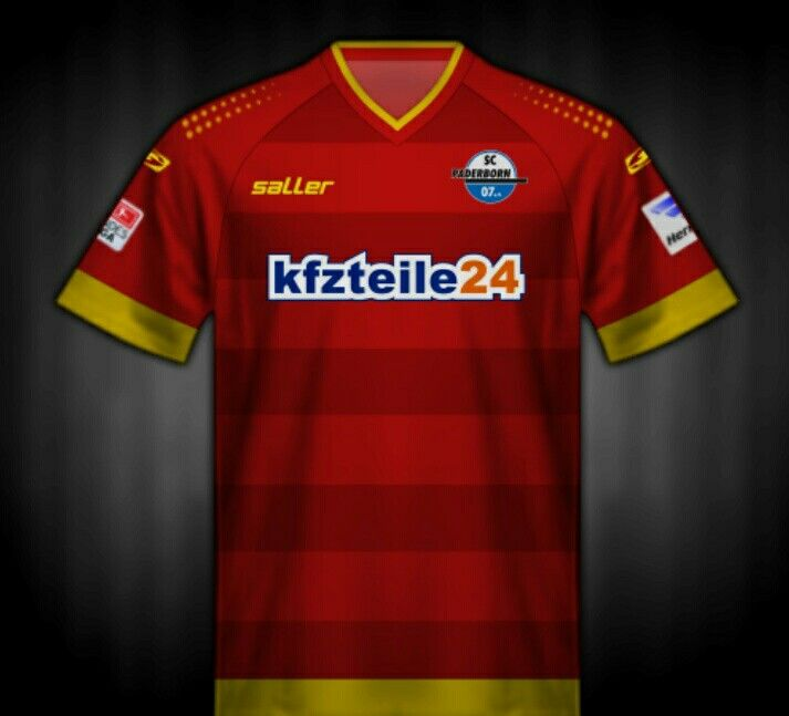 SC Paderborn 07 of Germany away kit for 2012-13.