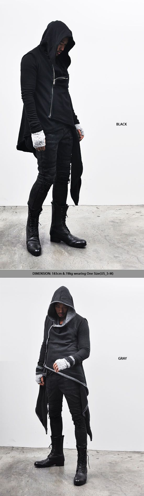 Tops :: Hoodies :: Avant-garde Haute Couture Hood Coat-Hoodie 28 - Mens Fashion