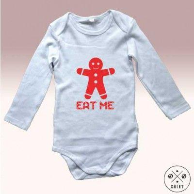 Body niemowlęce świąteczne, idealne na prezent bożonarodzeniowy.  Onesie for baby with gingerbread print perfect for christmas gift