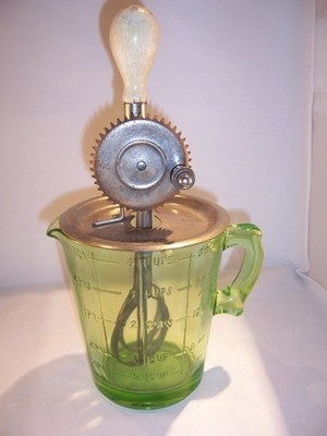 Vaseline Glass Measuring Cup Mixer