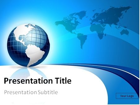 FREE Blue 3d globe and world map PowerPoint template: This PowerPoint template is a great choice for presentations on business topics, consulting, business trips, international projects, world studies, tourism, Internet, online hosting, etc.