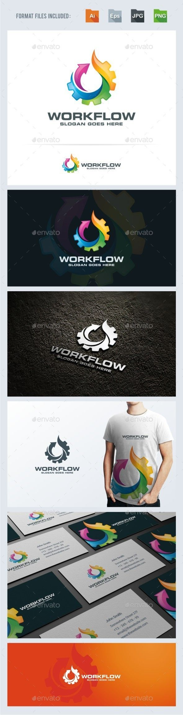 Work Flow - Gear Flame Logo Template PSD. Download here: http://graphicriver.net/item/work-flow-gear-flame-logo-template/14899543?ref=ksioks
