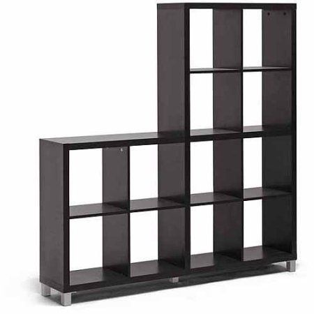 Wholesale Interiors Sunna Modern Cube Shelving Unit, Dark Brown