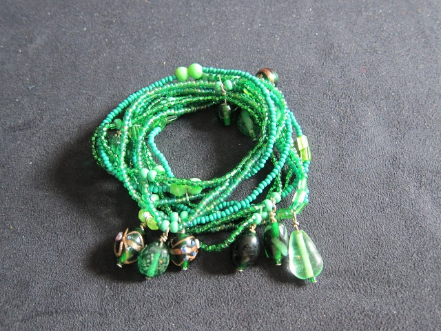 Stacking Green Bracelets