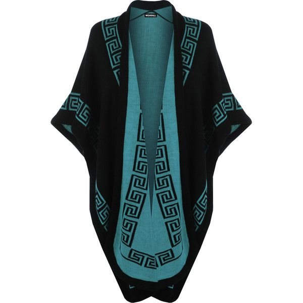 Abi Aztec Knitted Shawl ($39) ❤ liked on Polyvore featuring accessories, scarves, turquoise, shawl scarves, aztec print scarves and aztec scarves
