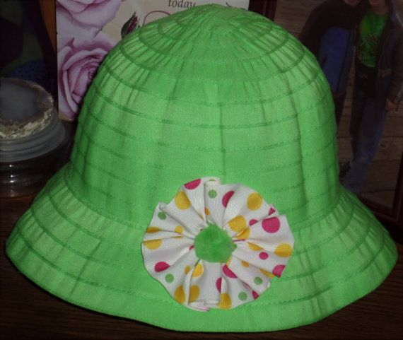 Bright Green Easter Hat For Little Girls  Easter by SugarBearHair