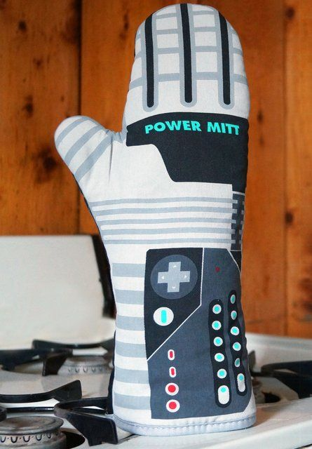 Man Cooking :: Power Mitt Oven Glove