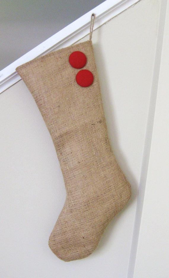 Ideas about burlap christmas stockings on pinterest