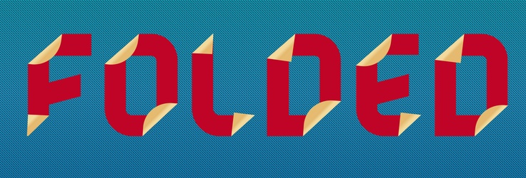 Folded Text Effect