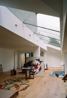 Side return glass roof from the inside