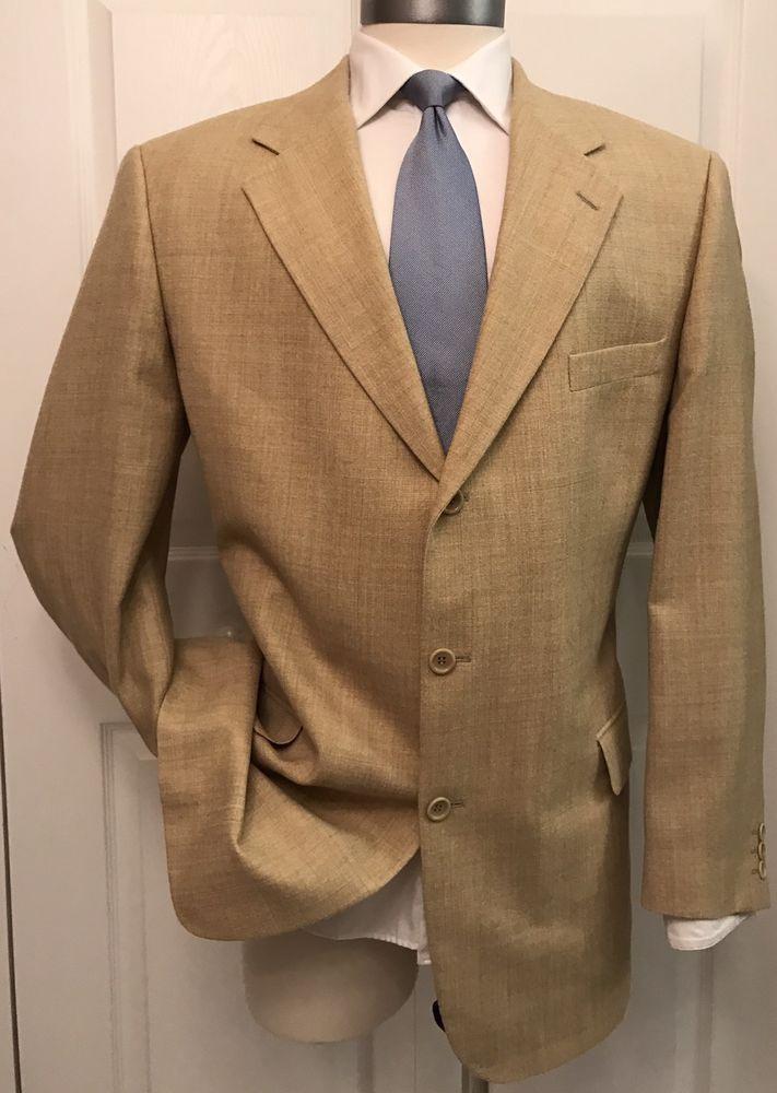 Azzurro Moda Italia Bespoke Custom 100% Wool Woven Blazer Sport Coat Jacket 46L #AzzurroModaItalia #ThreeButton